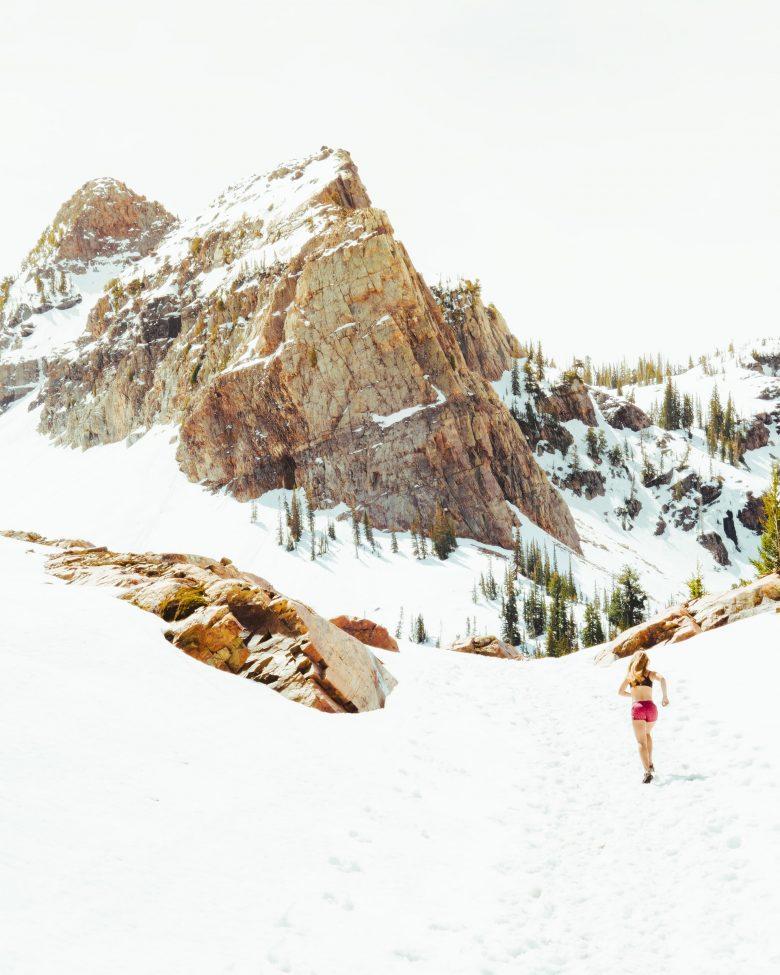 séance de trail dans la neige