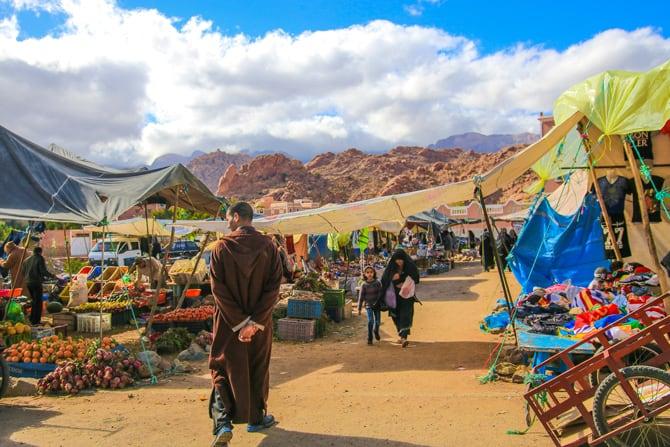 Maroc-Tafraout-souk