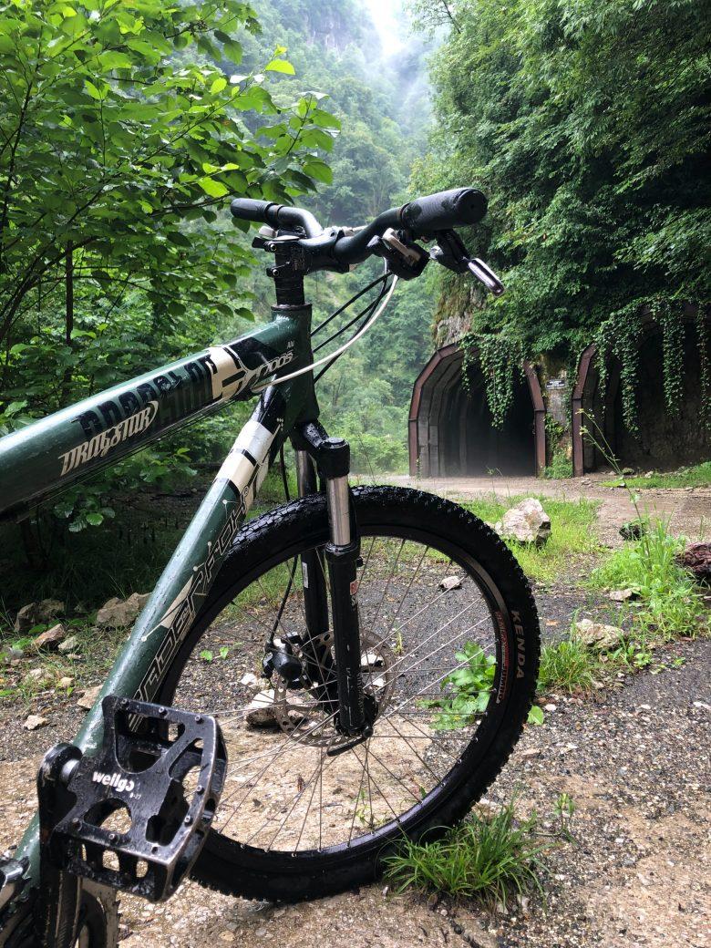 vtt en forêt avec pédales plates