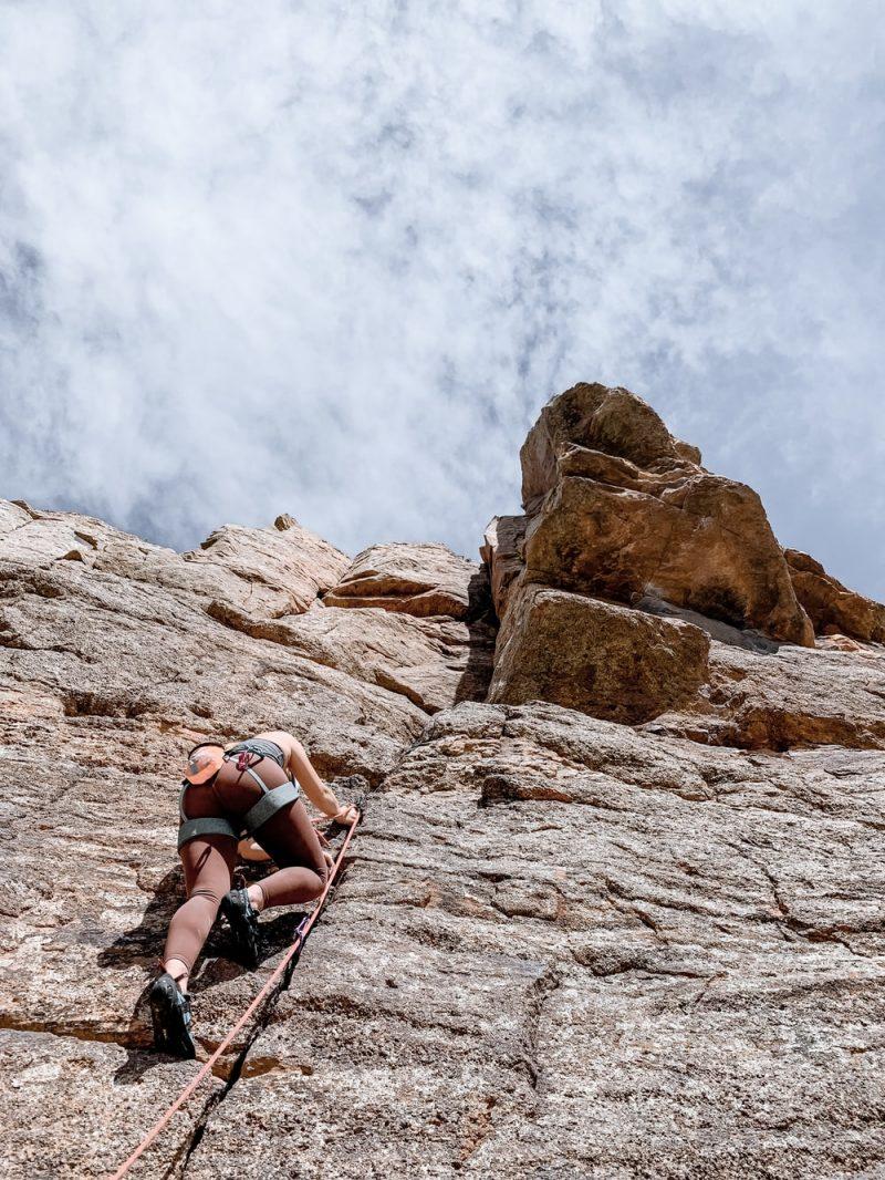 action du chausson sur la grimpe