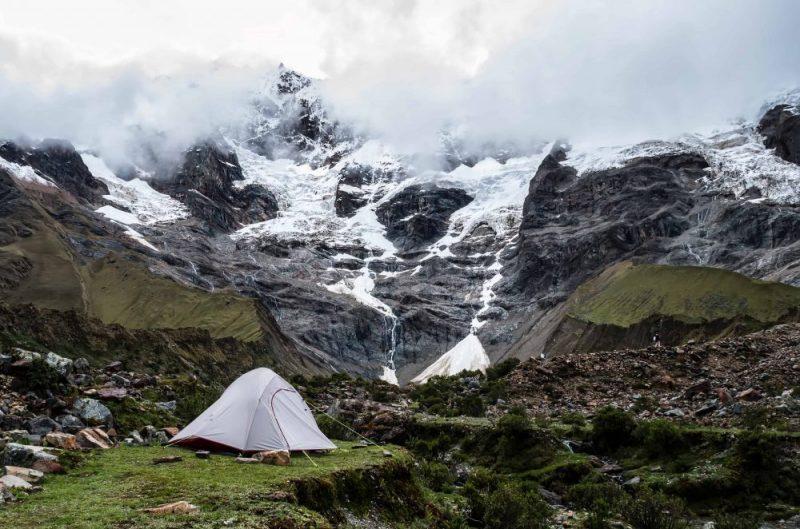 campement en montagne