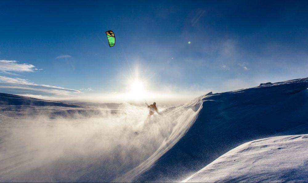 débutant snowkite
