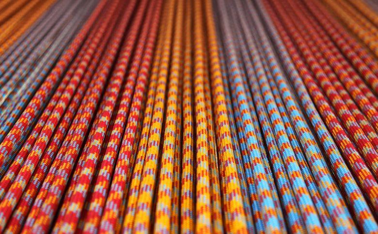 Cordes longues colorées