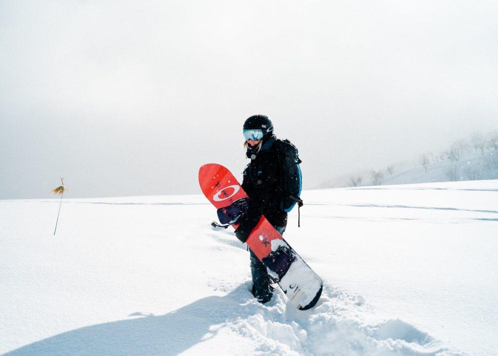 personne ayant fait le bon choix de snowboard