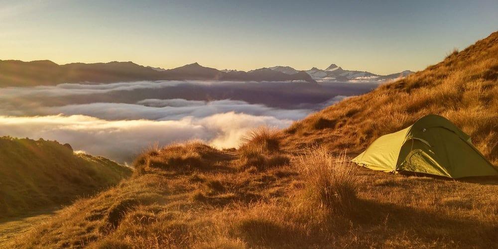 bivouac avec tente ultra legere en montagne